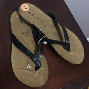 ESPRIT Leather Thong Sandals NEW